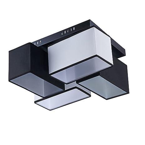 LED Moderno Plástico plafón decorativa, antracita y blanco ...