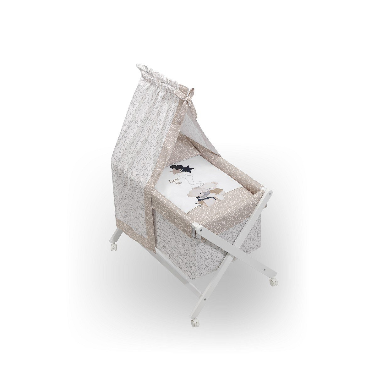 Minicuna Dosel Volamos Baby Beige con Textil