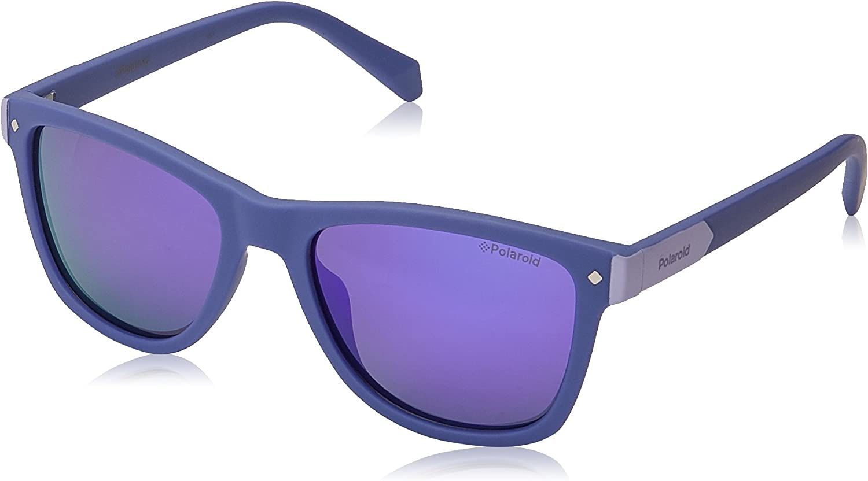 Polaroid PLD 8025/S MF B3V 48 Gafas de sol, Morado (Violet/Grey), Unisex Niños