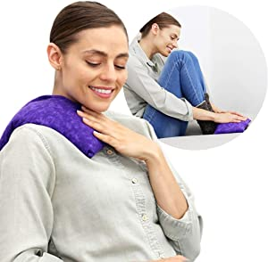 Nature Creation Microwave Heating Pad | Portable Heating Pack for Cramps, Arthritis, Joints Pain, Soring Muscles & Aching Feet | Reusable Microwave Hot Pack for Pain and Stress Relief (Purple Marble)