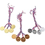6 Pièces En Plastique Or / Argent / Bronze Médailles Props âge Préscolaire