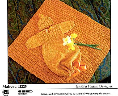 Figheadh Yarnworks Knitting Pattern #2225 - Mairead Baby Bunting, Cap & (Cap Knitting Pattern)