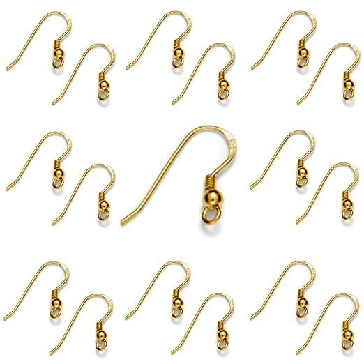 My-Bead 10 pares pendientes ganchos 18mm plata de ley 925 accesorios de joyer/ía de calidad