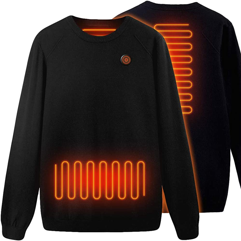 Heated Tops Knitted, USB Electric Wool Sweater, Thermal Underwear for Adult