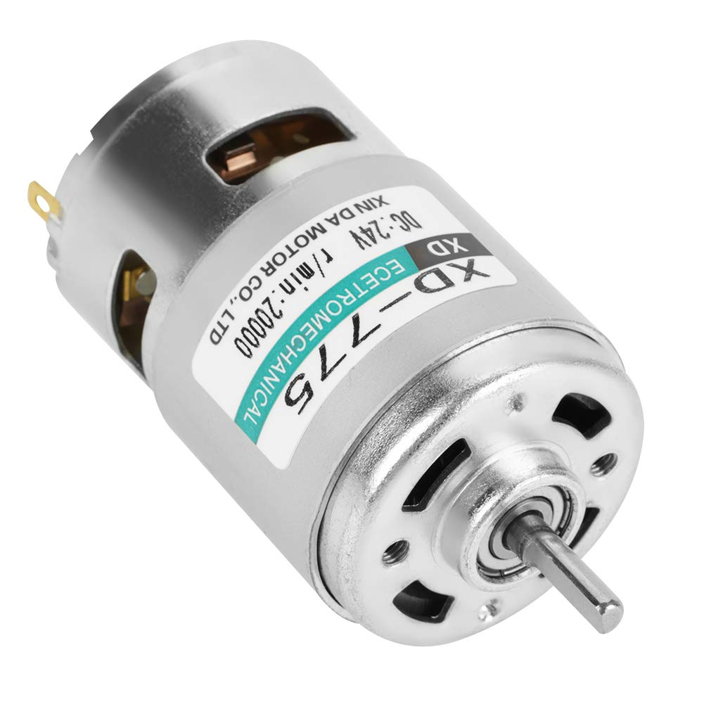 doble motor DC XD-775 12V // 24V de alta velocidad doble ruido 24V 20000rpm cojinete de bolas Motor