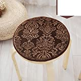 Four seasons plush seat cushion,Small round stool cover European round cushion Single round stool chair cushioning Skid pad-B diameter35cm(14inch)