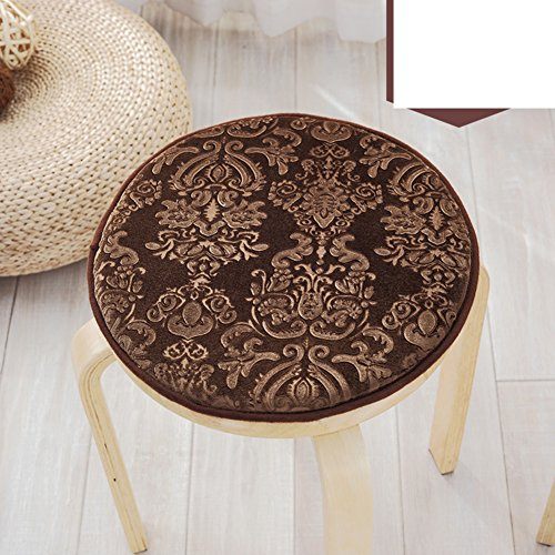 Four seasons plush seat cushion,Small round stool cover European round cushion Single round stool chair cushioning Skid pad-B diameter35cm(14inch) by OPHGTJTNGNGMJG