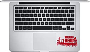 Walking Dead Skin Sticker Decal MacBook Air Pro Retro is a Walking Dead Decals. Laptop Sizes 11, 12, 13 and 15 inch. Looks Great with Your Walking Dead Movie Theme. Many Colors-RED