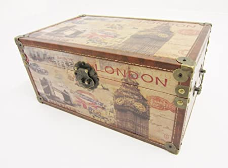 Shabby Chic London Vintage Design Storage Chest Trunk Toy Box & Shabby Chic London Vintage Design Storage Chest Trunk Toy Box ...