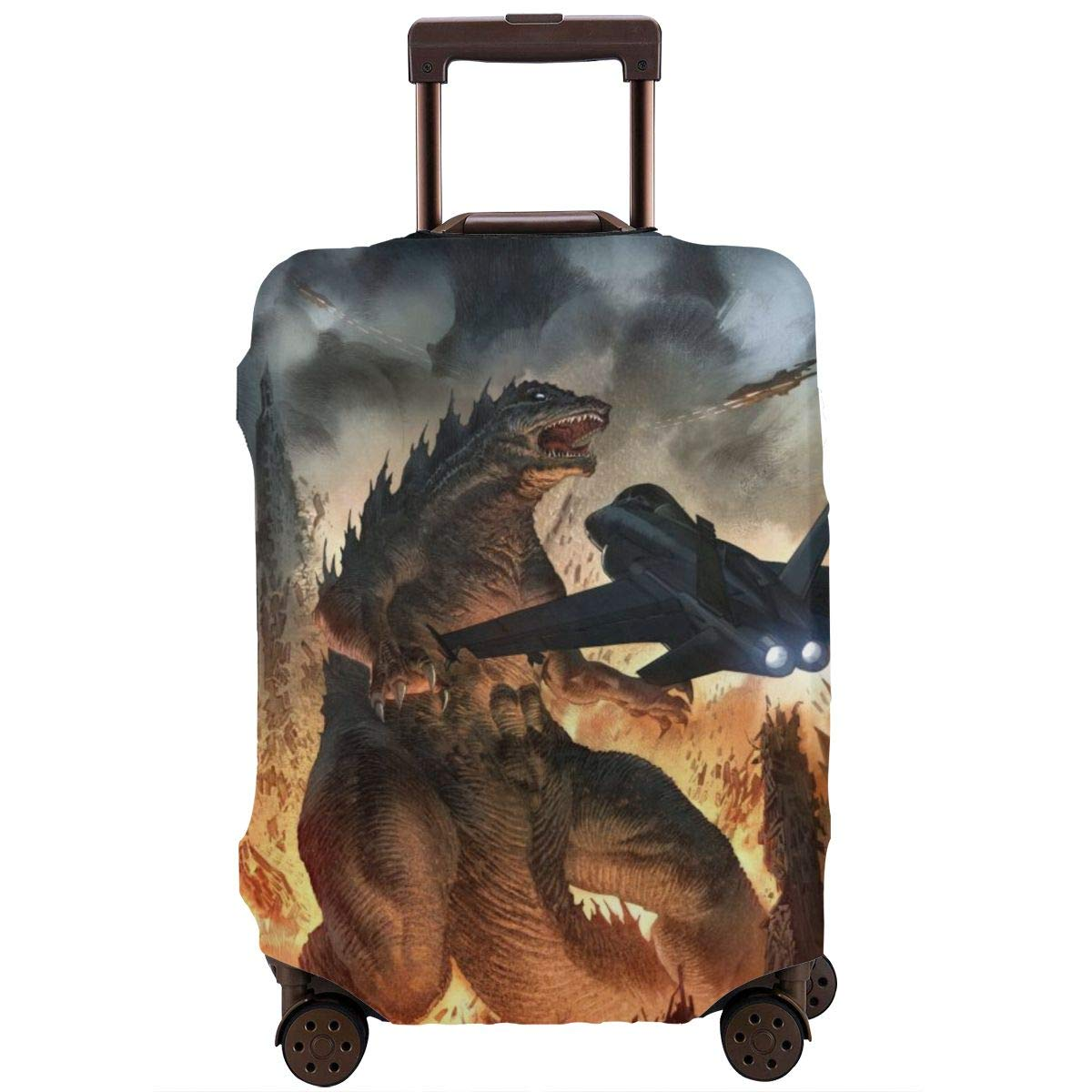 Godzilla Elastic Travel Luggage Cover,Double Print Fashion Washable Suitcase Protective Cover Fit For 18-32 Inch Luggage