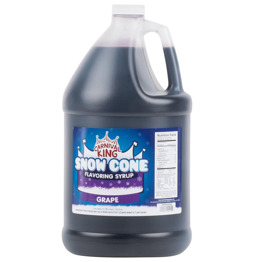 Tabletop King 1 Gallon Grape Snow Cone Syrup - 4/Case