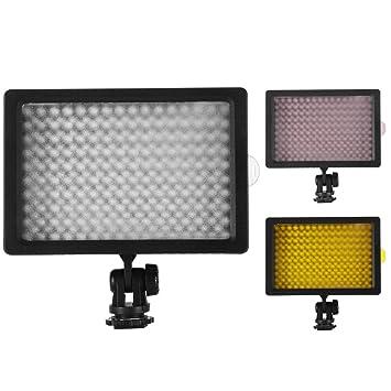 XCSOURCE® 160 LED Luz Lámpara Regulable de Vídeo para Canon Nikon ...