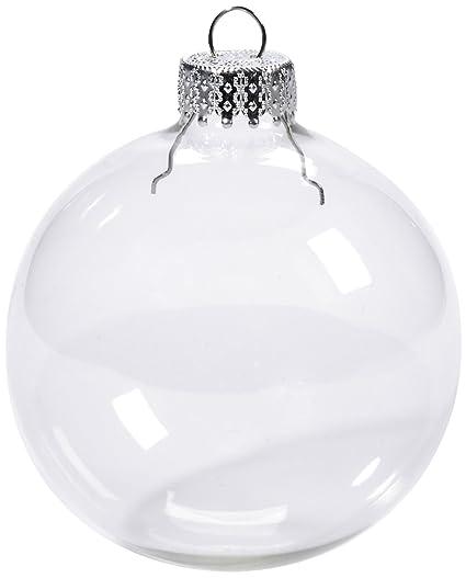 Clear Christmas Ornaments.Darice 2610 42 6 Piece Heavy Duty Glass Balls Clear Glass 70mm