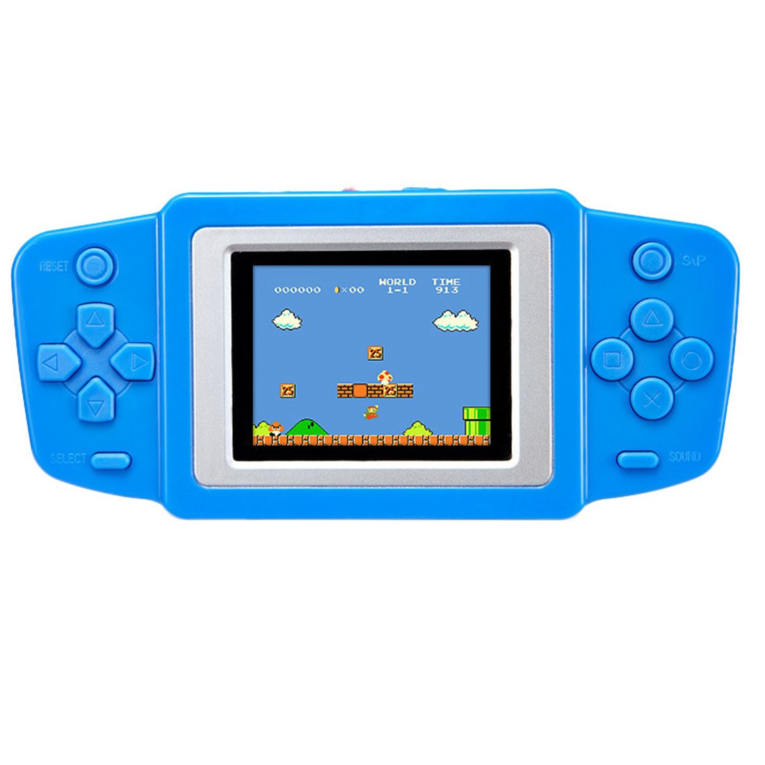 ZHISHAN Retro Handheld Game Console for Kids with Built in 268 Classic Old Games Portable Gaming Player Arcade Playstation System Birthday Gift for Children Boys (Blue)