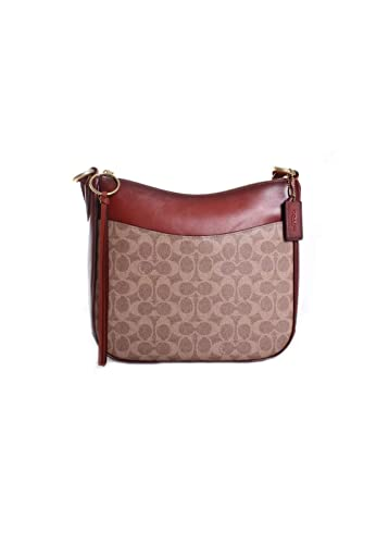 7cb3935f57606 COACH Women's Coated Canvas Signature Chaise Crossbody B4/Tan Rust One  Size: Handbags: Amazon.com