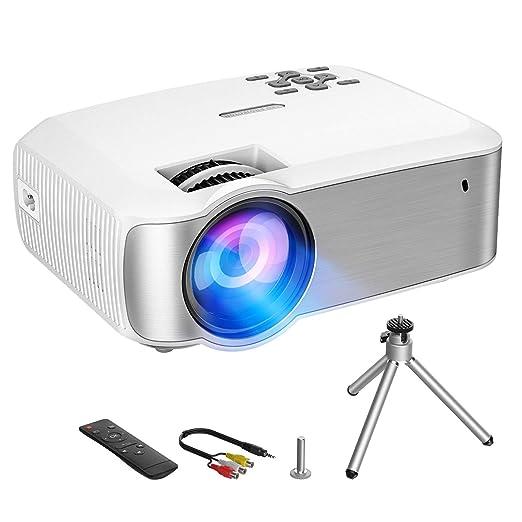 VicTsing Proyector,3200 Lúmenes Multimedia Vídeo Mini Proyector,1080P Full HD Proyector LED con Tecnología LCD,Proyector de Cine en Casa Compatible ...
