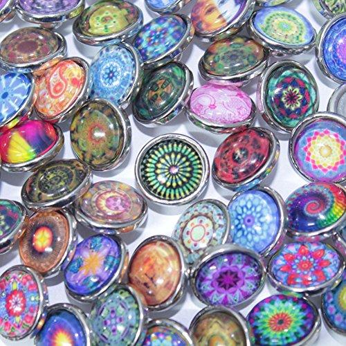 Soleebee click-button aluminium verre 12mm pression boutons femme Un groupe de 50 - exotique