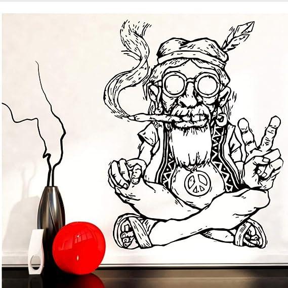 Waofe Fumar Marihuana Marihuana Paz Pegatinas De Pared De Vinilo ...