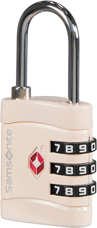 Samsonite Global Travel Accessories - TSA Three Dial Light Combi Candado para Equipaje, 7 cm, Rosa (Pale Rose Pink)