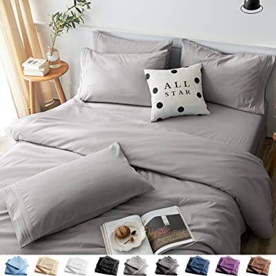 LBRO15M Bed Sheet Set Queen Size 15 Piece 115 Inches Deep Pocket 15 Thread  Count 15% Microfiber Sheet,Bedding Super Soft Comfortable Hypoallergenic
