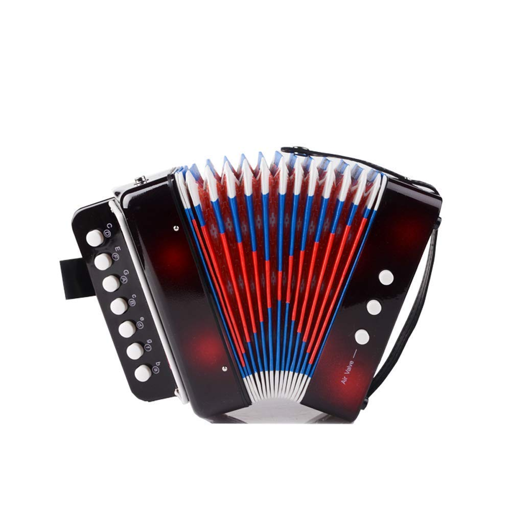 Children Musical Toy Instrument - 7 Keys 2 Bass Kid's Toy Accordion Rhythm Band Toy for Beginner Children Birthday's Gift by DigitalLife (Image #6)
