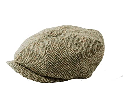 9d9372804 Failsworth Carloway 8-Piece Bakerboy Harris Tweed Beige Herringbone ...