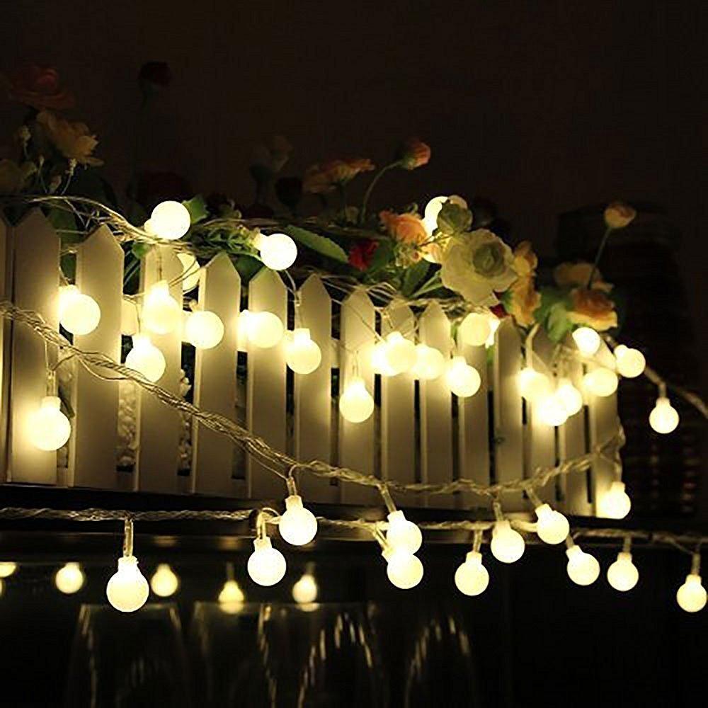 Good Amazon.com : Ball String Lights, 100 LED 33ft/10m Globe Fairy Lights  Christmas Lights By IDEAS : Garden U0026 Outdoor