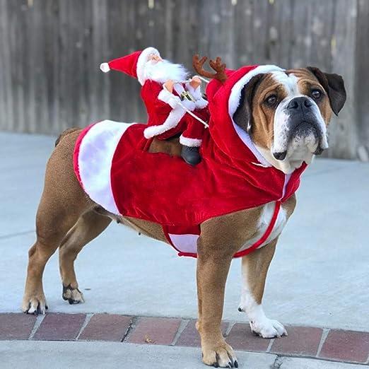 WWLDPTTCD Ropa para Perros de Navidad Mascotas Disfraces de ...