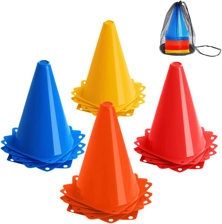 Soccer Equestrian, 48cm//18.9/'/' Tall Durable Safety Cone for Sports Training