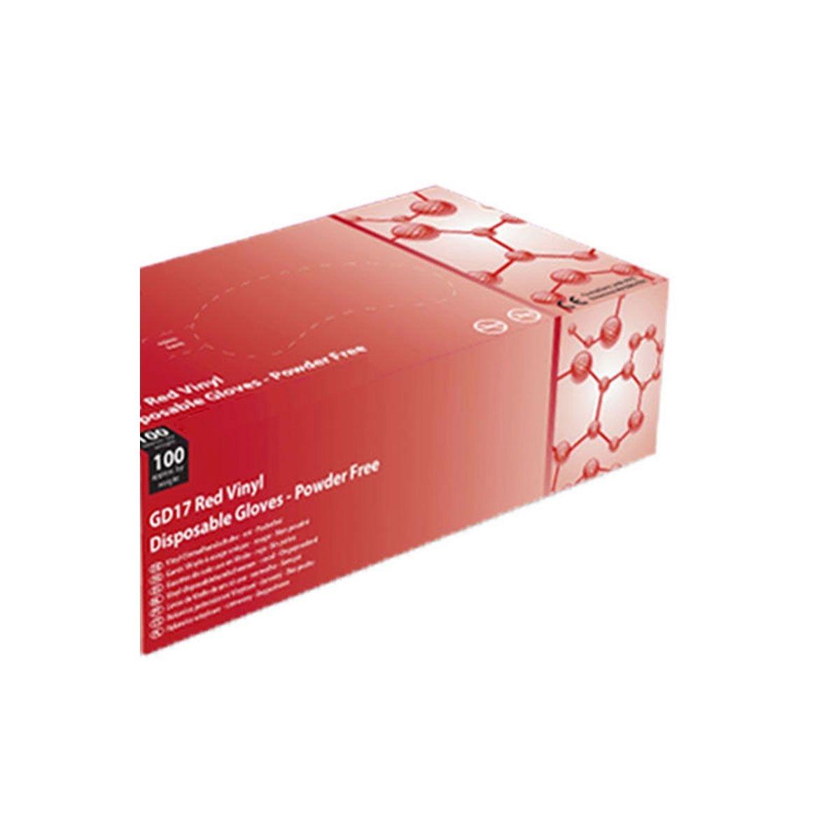 Non Poudr/é Gd17r By Antigua Health Care Gants En Vinyle Rouge Shield2 La Bo/îte De 100