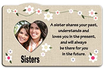 Amazoncom Banberry Designs Sister Picture Frame Heart Picture