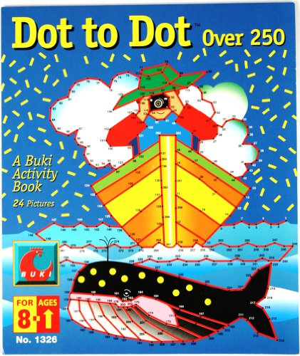 Buki Dot-to-Dot Activity Book (+250 per page) - 24 Pictures Dot Slinky