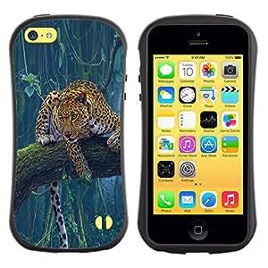 Paccase / Suave TPU GEL Caso Carcasa de Protección Funda para - Leopard Spots Cheetah Jungle Rainforest - Apple Iphone 5C