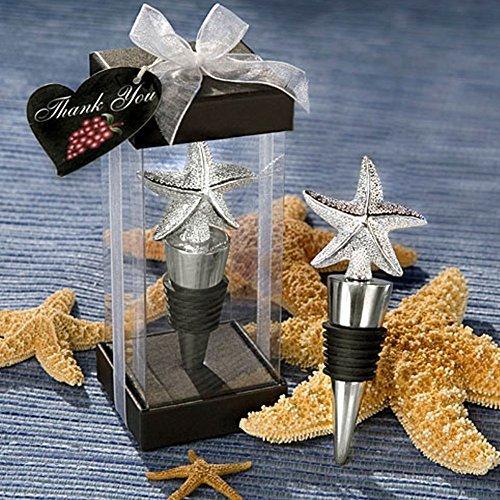 Starfish Bottle Stopper Favor beach theme wedding favors, 1