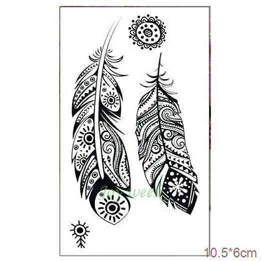 15 Piezas 24 Pegatinas de Tatuaje Temporal Impermeables Oreja ...