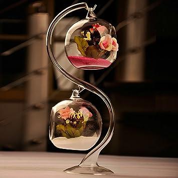 Amazon 8cm Hanging Glass Flowers Plant Vase Stand Holder