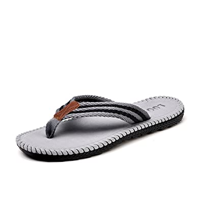 e4d5ef136d10 Image Unavailable. Image not available for. Color  Kateirmaso Summer Cool Men  Slippers Sandals ...