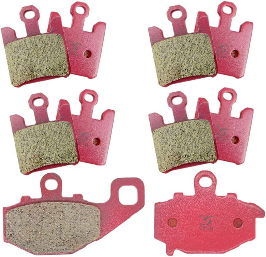 SYUU Motorcycle Replacemen Front Rear Brake Pads Brakes for Kawasaki ZX6RR ZX 600 2003-2006 ZX6R ZX 636 2003-2006 ZX10R ZX 1000 2004-2006 FA369F FA192R