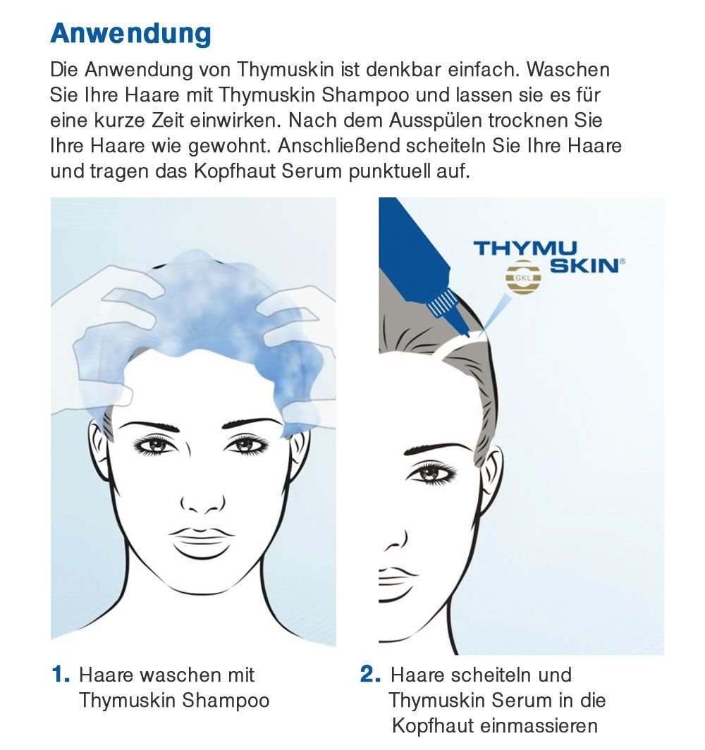 THYMUSKIN Med – Hair Care Peptides Serum Step 2 for Hair Growth Due to Hair Loss – for Sensitive Hair and Scalp Conditions Where Balding is Already Present