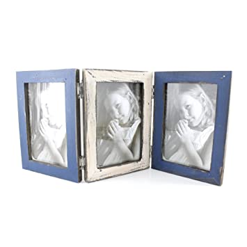 Amazoncom 4x6 Inch 3 Triple Wood Hinged Family Photo Picture