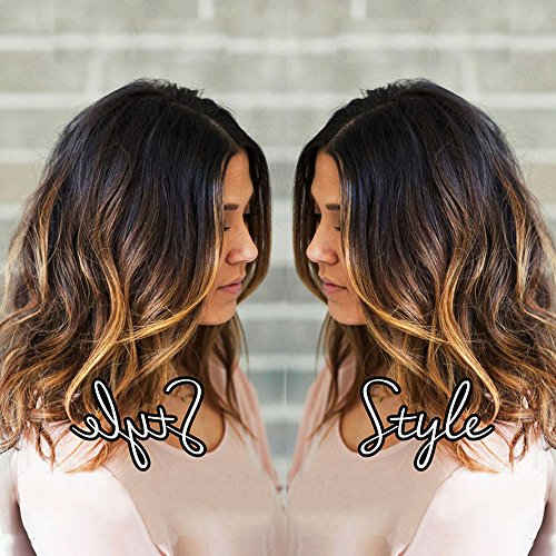 TopFeeling Short Lace Front Wigs Human Hair Bob Wigs Brazilian Body Wave Ombre Highlight Color Short Wigs For Black Women (Wig Human Hair Ombre)