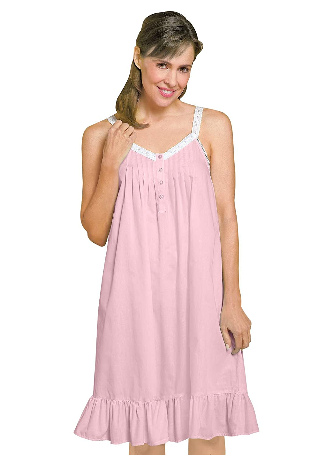 Carol Wright Gifts Sleeveless Nightgown, Pink, Size Extra Large (1X ...
