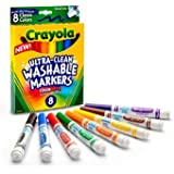 Crayola 绘儿乐 8色可水洗粗头水笔 58-7808