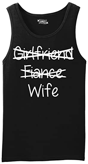 d2ab57820f2e2a Comical Shirt Men s Tank Top Girlfriend Fiance Crossed Out Wife Black S