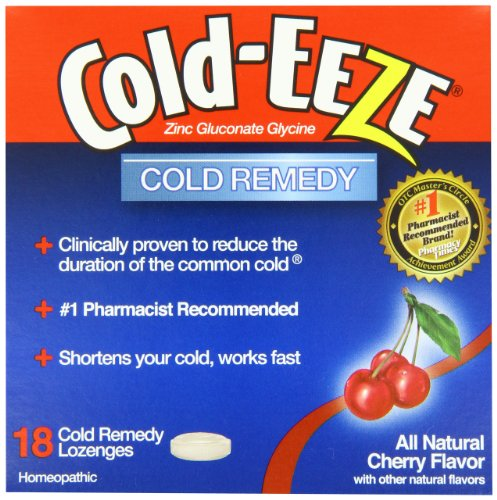 Eeze frío Cold-Eeze, remedio frío, sabor Natural de cereza, 18 pastillas - 1 Pack