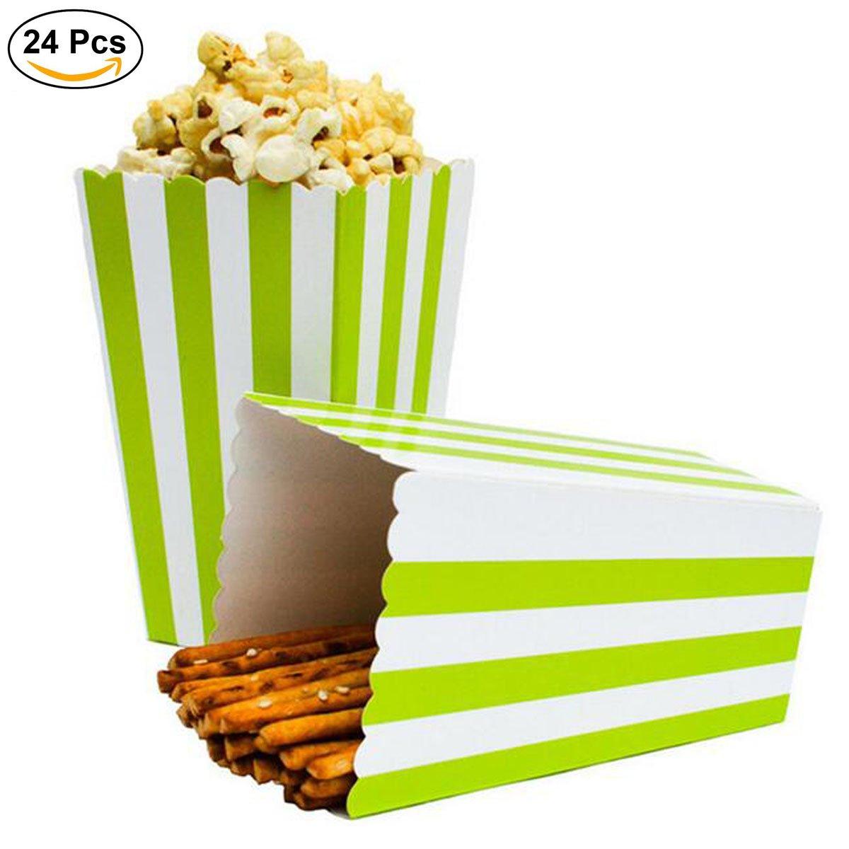 Rosa Ouinne 24PCS Scatole Popcorn Sorpresa Modello di Banda Decorativi per il Partito per i Favori del Partito di Film Scatole di Popcorn