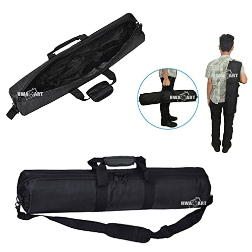 "HWAMART ® Tripod Bag/Case foam padded 1680D Nylon Carry with Shoulder Strap - 35"" 90cm x 20cm - Black"