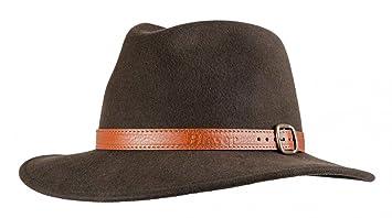 BLASER Sombrero de caza Travelhut marrón oscuro MODERNA ROPA DE CAZA - 60