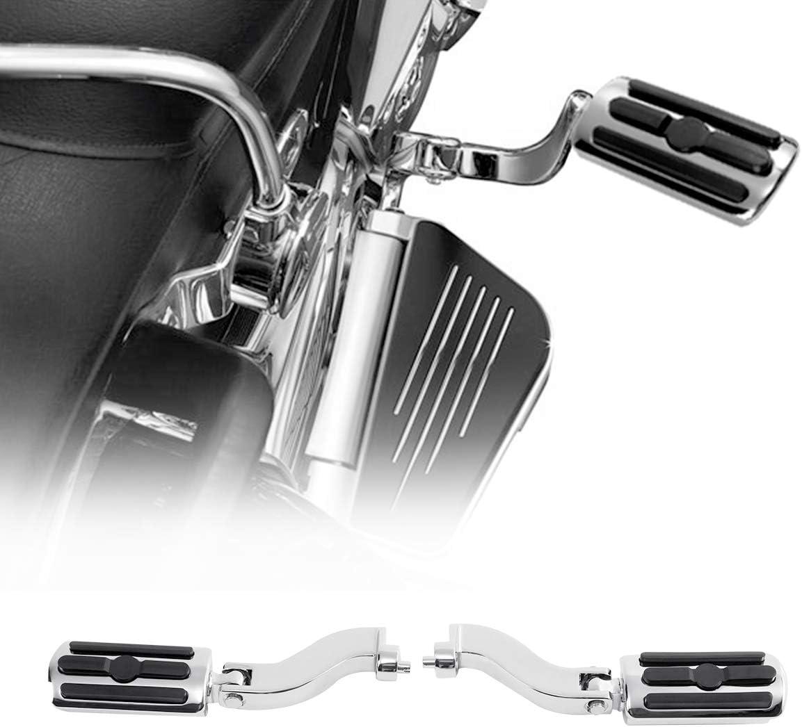 XMT-MOTO Adjustable Passenger Footpeg Kit fits for Harley Davidson Touring models 1993-later,Chrome