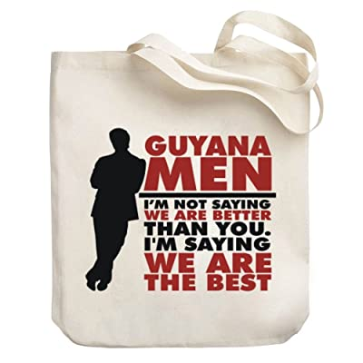 Teeburon Guyana men are the best Canvas Tote Bag